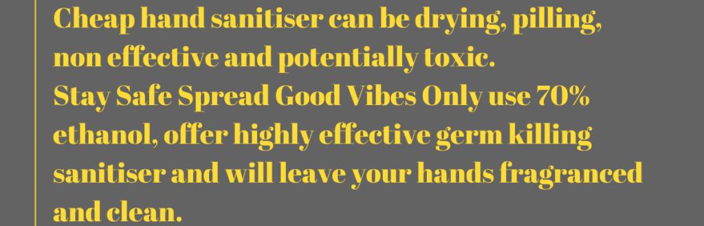Cheap hand sanitiser vs stay safe